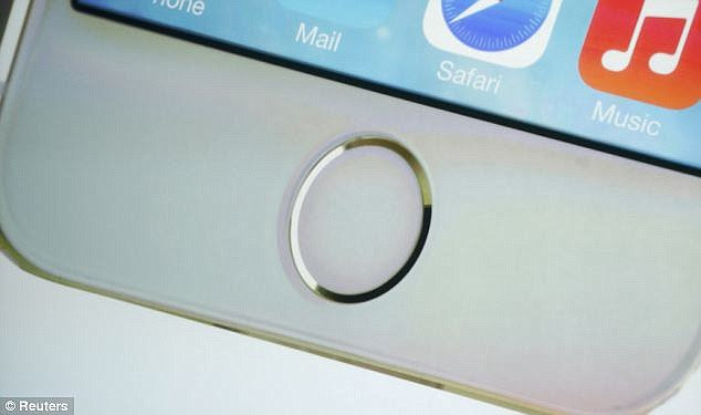 A security researcher known as Starbug, used the publicly available software, plus a variety of photos of a finger taken from different angles to replicate the fingerprint. Starbug previously hacked Apple's iPhone 5S fingerprint sensor (pictured) just two days after the phone launched in 2013