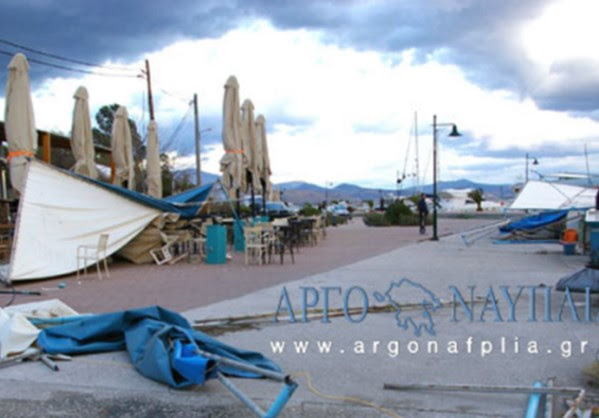 Μεγάλες ζημιές από Aνεμοστρόβιλο στη Νέα Κίο,Αργολίδας.