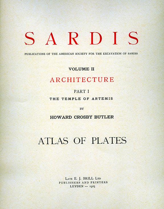 Sardis Volume II: Architecture, Part I: The Temple of Artemis (Plates)