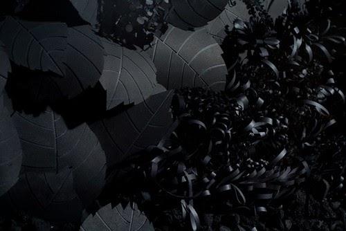 Quilling Installation Black Mirrors By Lauren Fensterstock
