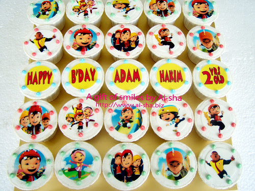 Birthday Cupcakes Edible Image Boboiboy