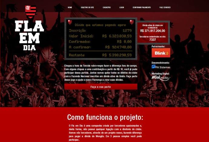 Site Fla em dia (Foto: Reprodução)
