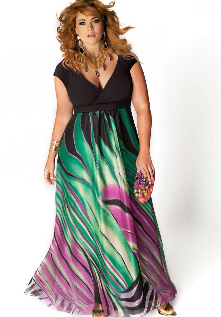 plus size sexy maxi dresses  pluslookeu collection