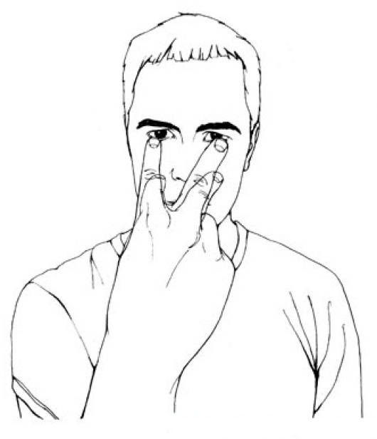 Dibujo De Hombre Viendo Vigilando Y Observando Atentamente Con Los