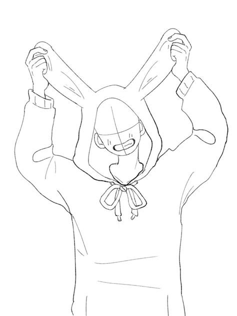 bunny hoodie reference poses   drawings art