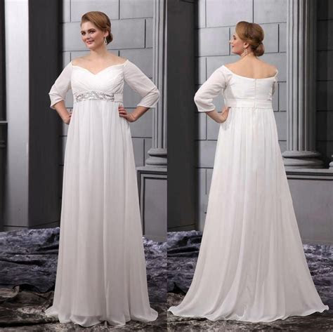 Chiffon 2015 Summer Plus Size Empire Waist Maternity Beach