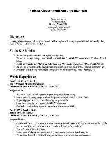 Certified federal resume writing service