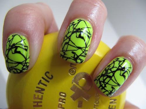 Neon Splatter - Konad m70 by glitterM.