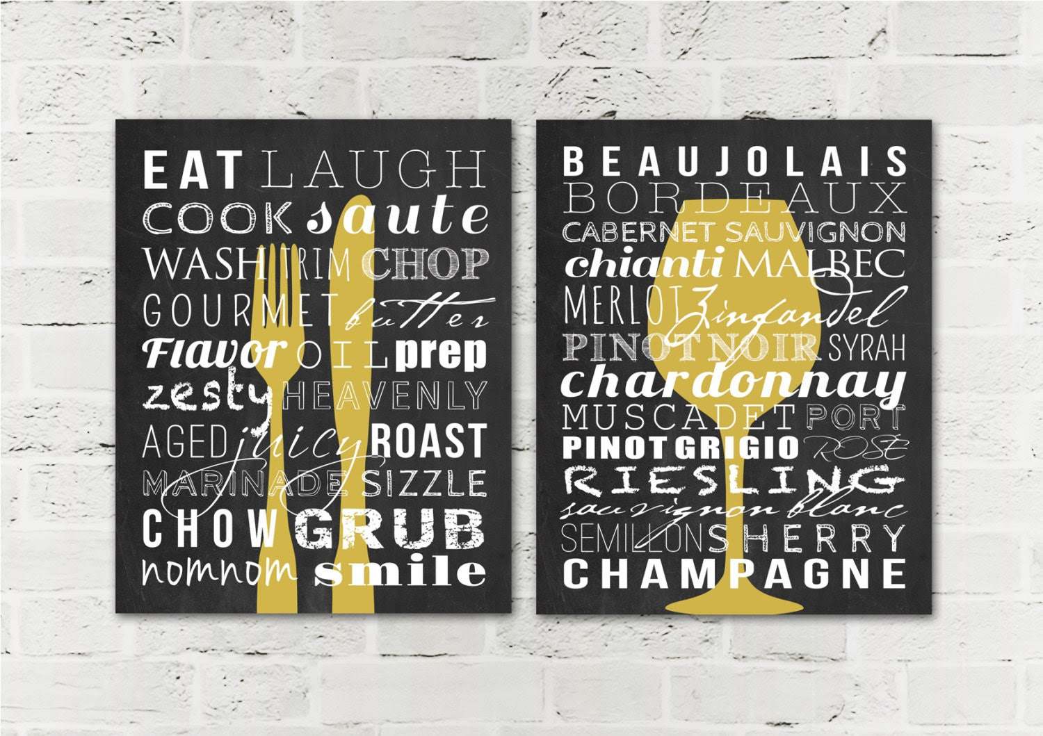 Kitchen Signs Dining Room Decor Prints Home by DaphneGraphics