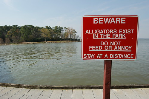 Beware of alligators at Lake Houston