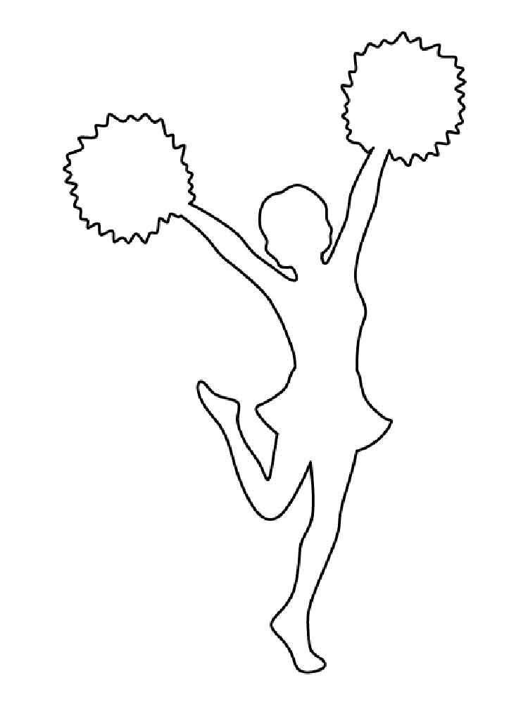 cheerleader coloring pages 2