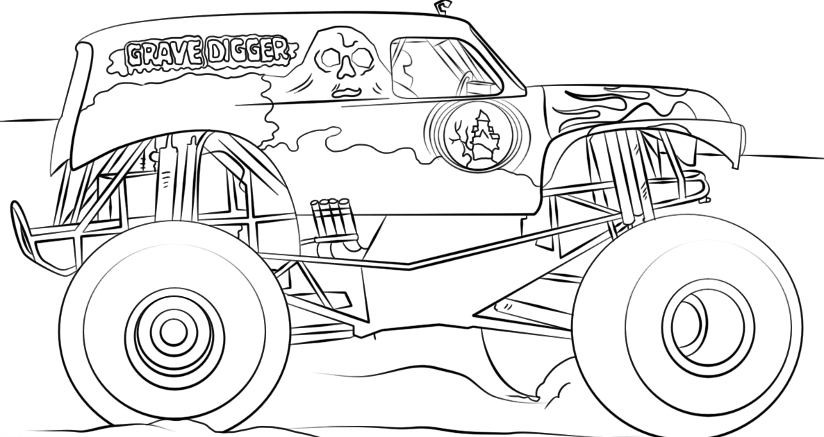 Coloring Pages Of Grave Digger Monster Truck - GeloManias
