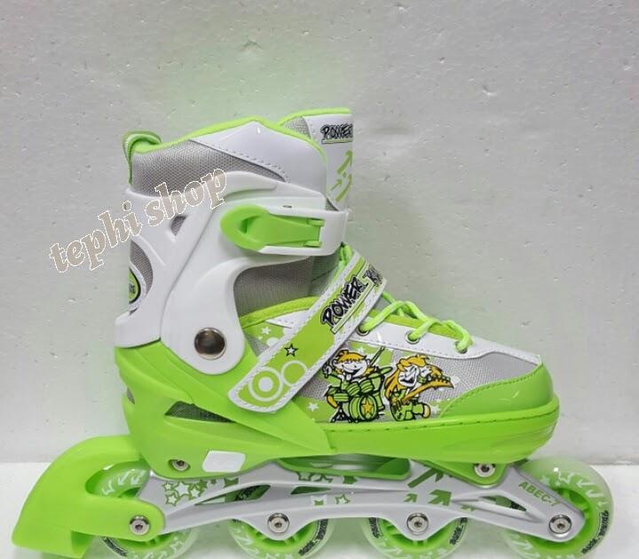 BELI Sepatu Roda Anak Inline Skate Power Skate 7032 - HIJAU (HARGA MURAH) 92ba569be4