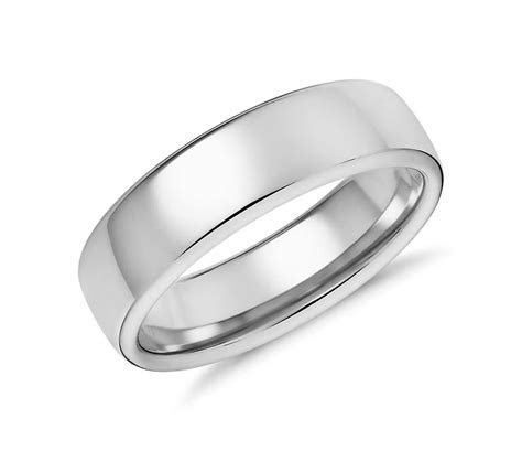 Modern Comfort Fit Wedding Ring in 14k White Gold (6.5mm