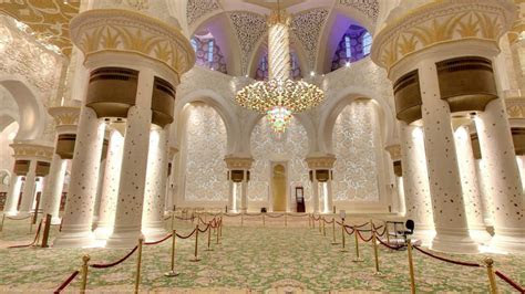 Sheikh Zayed Mosque Abu Dhabi United Arab Emirates Prayer