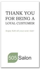 CPS-1085 - salon coupon card