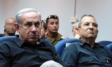 Prime Minister Netanyahu, Defense Minister Barak.