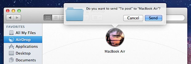 Transfer files between Macs with AirDrop