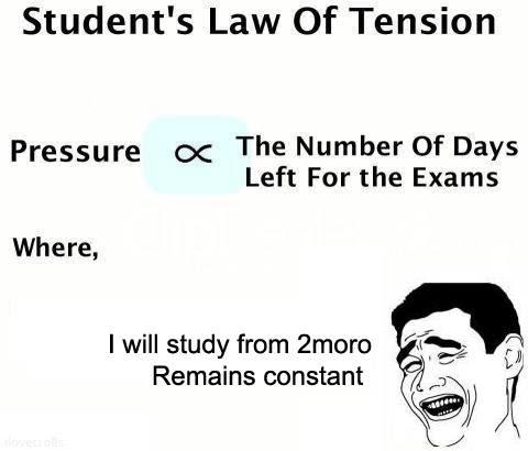 Students Law Of Tension Funny Exam Pics 13 Pics