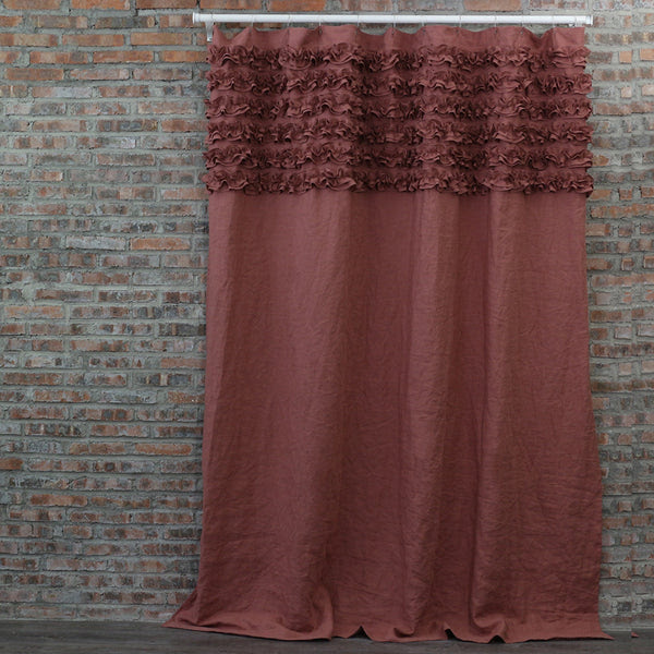 Ruffle Shower Curtains Bath Curtains Linenshed Linenshed