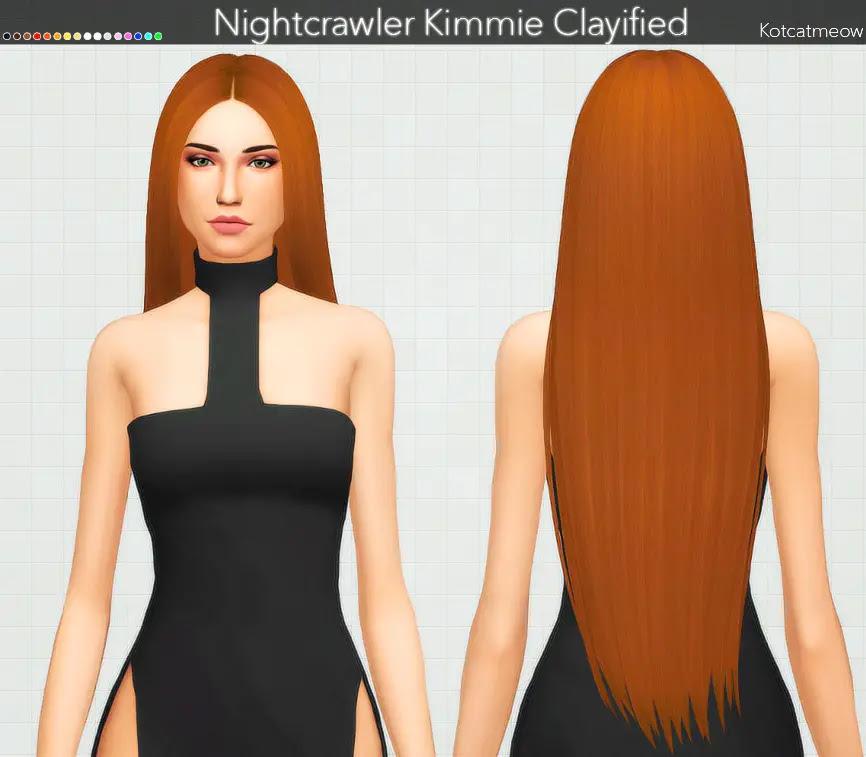Sims 4 Hairs ~ Kot Cat: Nightcrawler`s Kimmie Hair Clayified