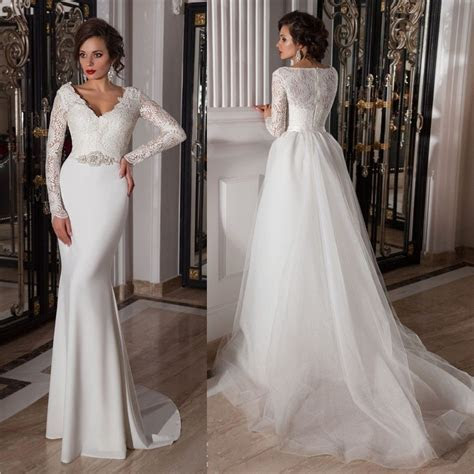 10 Convertible, Two in One Wedding Gowns That Will Steal