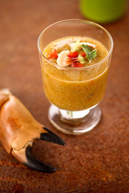 Xiaolu's mango crab gazpacho