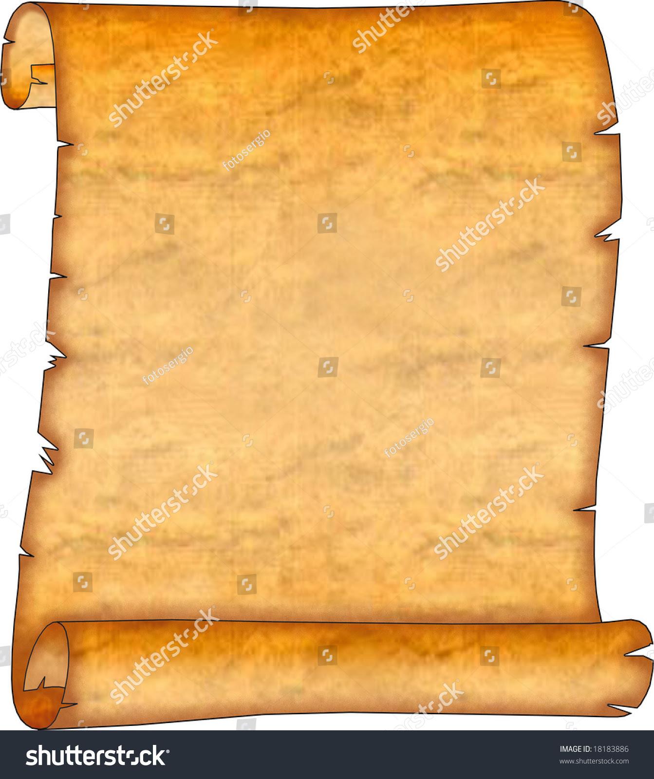 Blank Ancient Scroll Stock Photo 18183886 - Shutterstock