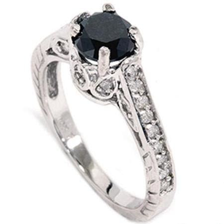 Cheap Black Diamond Engagement Rings   Wedding and Bridal
