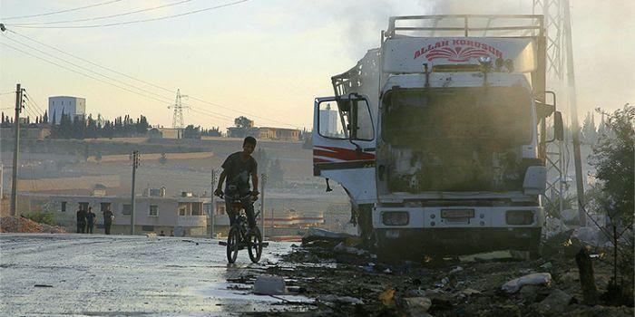 LAVROV SPIEGA PERCHE' LA FORZA AEREA SIRIANA NON PUO' AVER ATTACCATO IL CONVOGLIO ONU