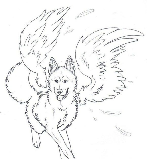 Werewolf Easy Wolf Coloring Pages - Dejanato