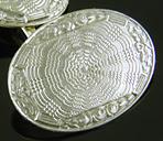 William Huger finely engraved cufflinks. (J9435)