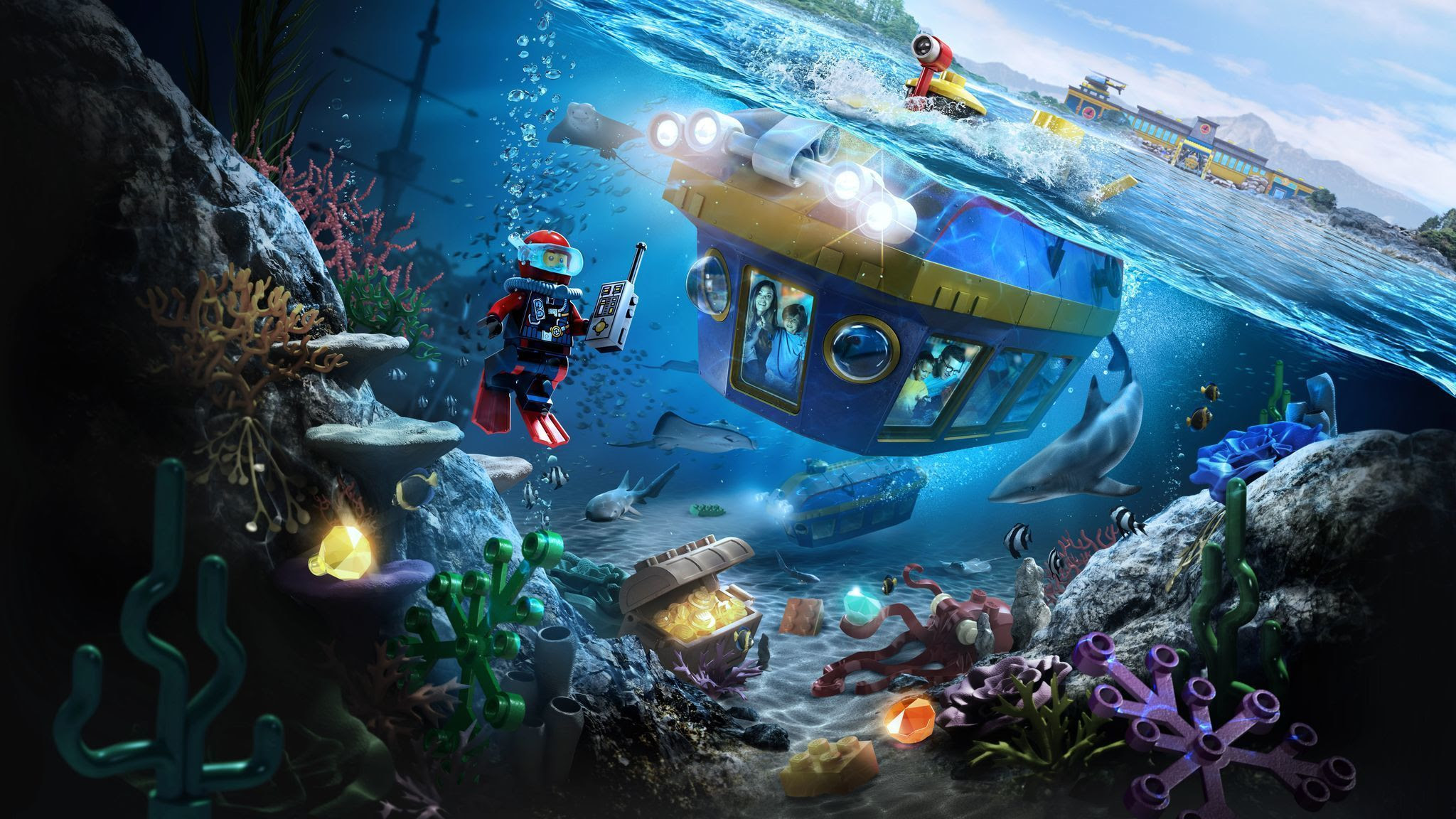 Image result for legoland submarine'