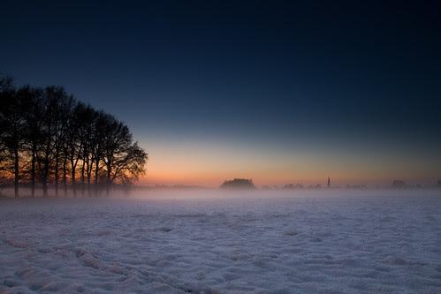 Dutch winter landscape wallpaper