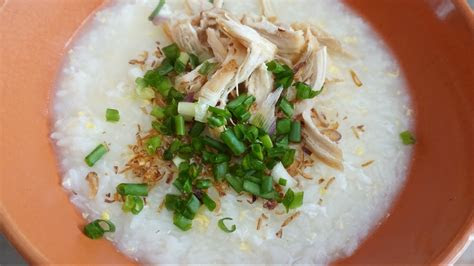 bubur ayam chicken porridge chinese style youtube
