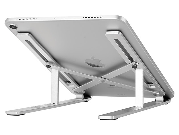 Foldable Flat Metal Laptop Stand for $21