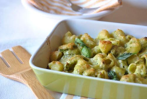 Zucchini pasta au gratin