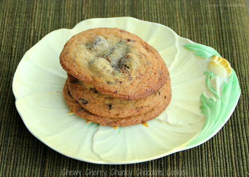 Chewy Cherry Chunky Chocolate Cookies 2A