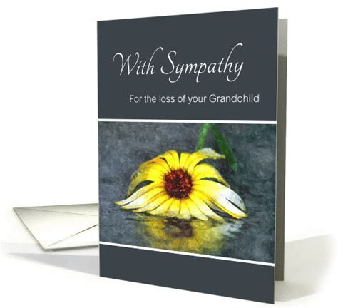 Sympathy For Loss Of Grandchild, Condolences, Yellow