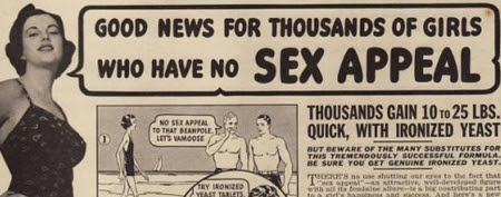 Retro ads harken back to when women wanted to be heavier (Retronaut)