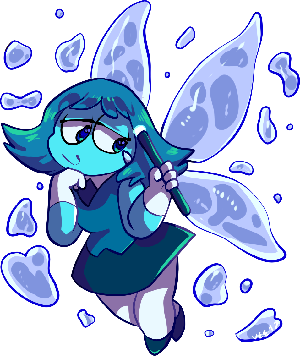 im a stink who looks at leaks aquamarine looks like a fucking gremlin emoji version of mandy, i love her