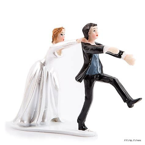 35 WTF Wedding Cake Toppers ? if it's hip, it's here