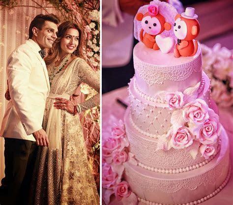 Bipasha Basu and Karan Singh Grover   Wedding Cakes