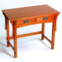 Mission Small Oak Solid Wood Desk | Overstock.