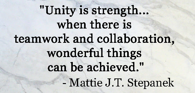 Unity Is Strength Knowledge Is Power Attitude Is Everything