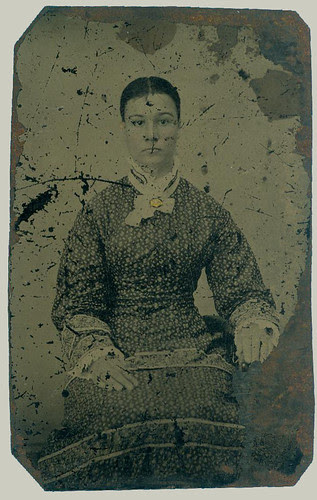 Tintype woman seated