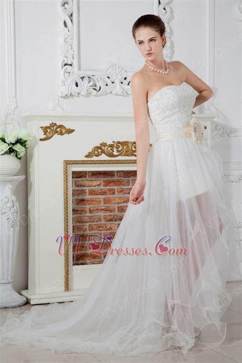 Unique Corset Asymmetrical Detachable Skirt Bridal Gowns