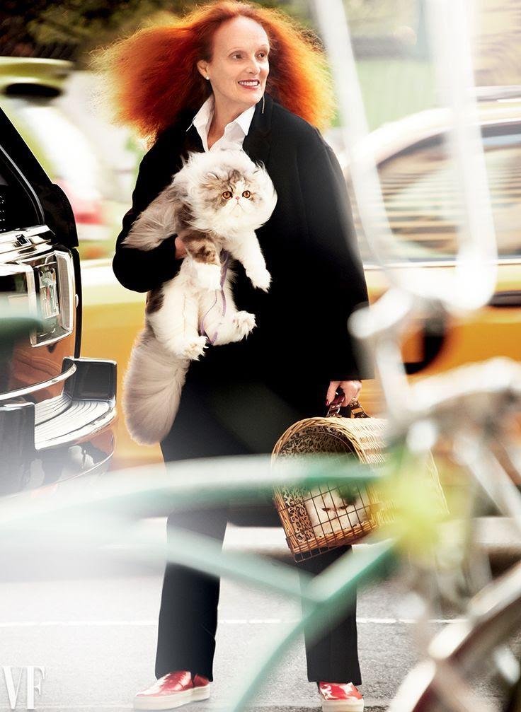 Le Fashion Blog: Grace Coddington By Mario Testino For Vanity Fair -- Slip-On Sneakers -- Persian Cats -- photo Le-Fashion-Blog-Grace-Coddington-By-Mario-Testino-For-Vanity-Fair-Slip-On-Sneakers-Persian-Cats.jpg