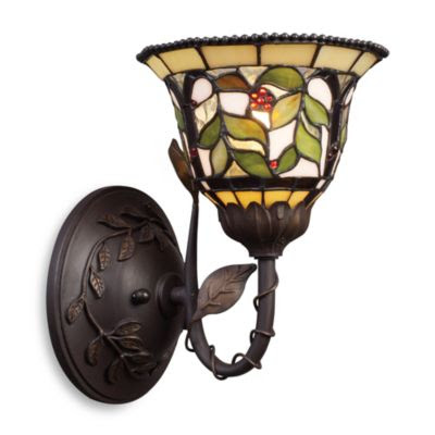 Buy ELK Lighting Majestic 2-Light Sconce with Tiffany Style Glass ...