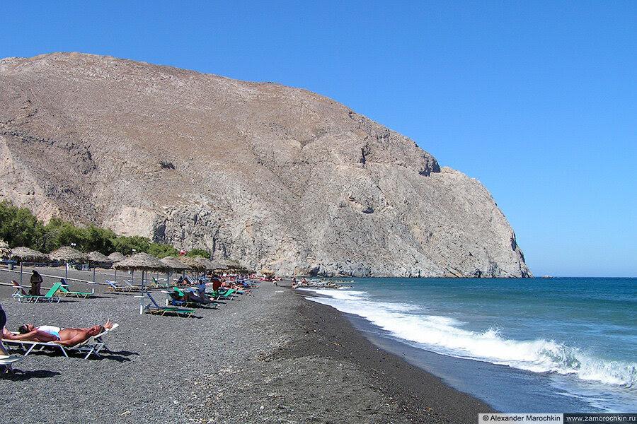 Чёрный пляж в Периссии, Санторини, Греция